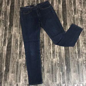 0 curvy skinny Loft Jeans